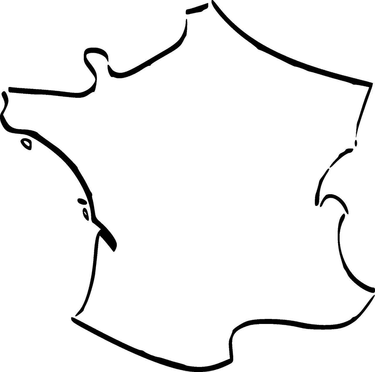 contour carte de france Free Maps for your Classes   Real Life Language