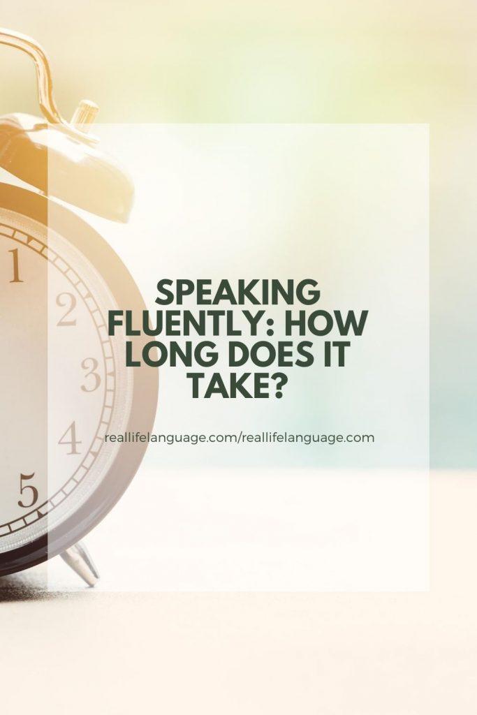 speaking fluently