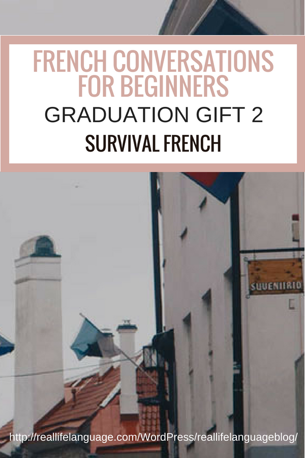 French Conversations for Beginners graduation gift two survival french #learnfrench #learntospeakfrench
