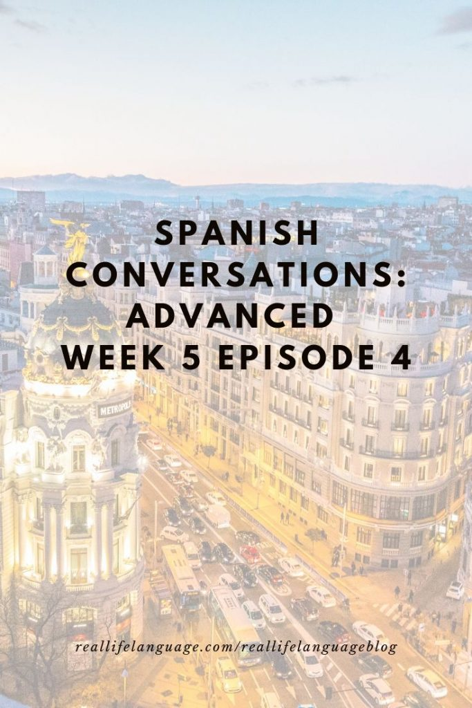 Advanced Spanish Course Online